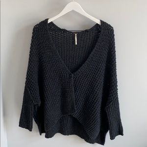 Free People charcoal cardigan